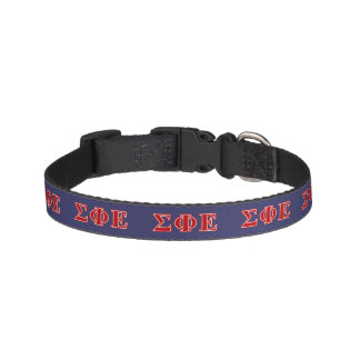 Sigma Phi Epsilon Red Letters Pet Collar