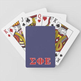 Sigma Phi Epsilon Red Letters Playing Cards