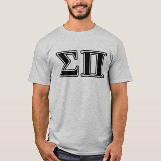 Sigma Pi Black Letters T-Shirt