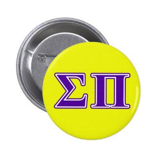 Sigma Pi Purple Letters 6 Cm Round Badge