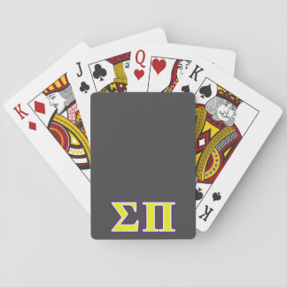 Sigma Pi Yellow and Purple Letters Playing Cards