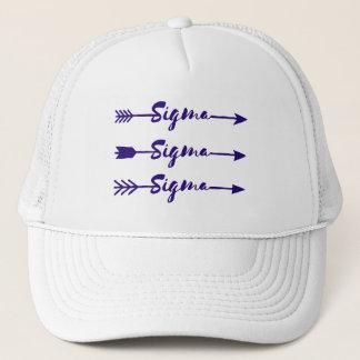 Sigma Sigma Sigma Arrow Trucker Hat