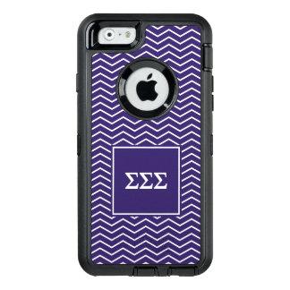 Sigma Sigma Sigma | Chevron Pattern OtterBox Defender iPhone Case