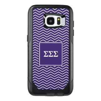 Sigma Sigma Sigma   Chevron Pattern OtterBox Samsung Galaxy S7 Edge Case