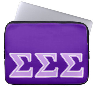 Sigma Sigma Sigma Lavender Letters Laptop Sleeve