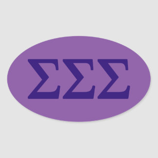 Sigma Sigma Sigma Lil Big Logo Oval Sticker