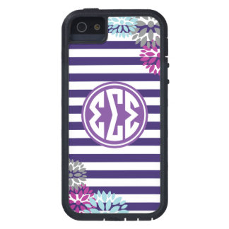 Sigma Sigma Sigma   Monogram Stripe Pattern Case For iPhone 5