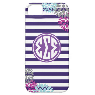 Sigma Sigma Sigma | Monogram Stripe Pattern iPhone 5 Cases