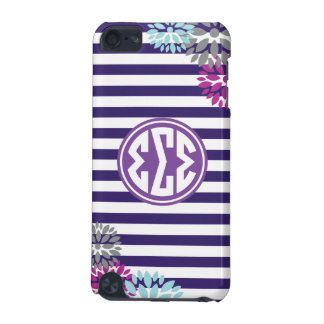 Sigma Sigma Sigma | Monogram Stripe Pattern iPod Touch (5th Generation) Covers