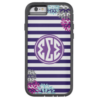 Sigma Sigma Sigma   Monogram Stripe Pattern Tough Xtreme iPhone 6 Case