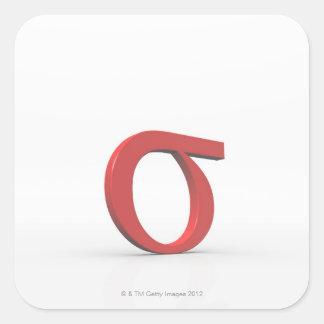 Sigma Square Sticker