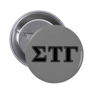 Sigma Tau Gamma Black Letters 6 Cm Round Badge