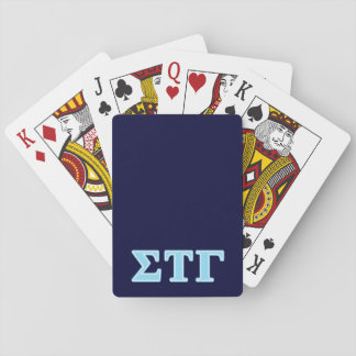 Sigma Tau Gamma Blue Letters Playing Cards