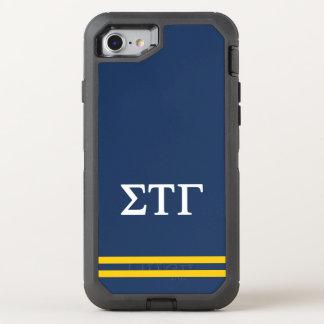 Sigma Tau Gamma | Sport Stripe OtterBox Defender iPhone 8/7 Case