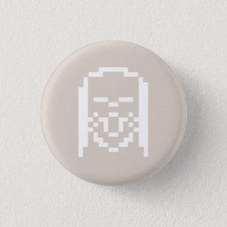 Sigmund, 8 bit front logo 3 cm round badge