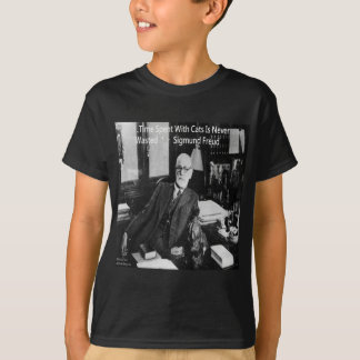 Sigmund Freud In His Office & Funny Cat Quote T-Shirt