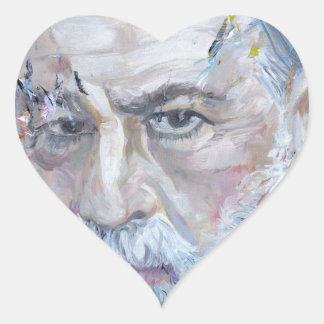 SIGMUND FREUD - oil portrait Heart Sticker