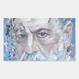 SIGMUND FREUD - oil portrait Rectangular Sticker