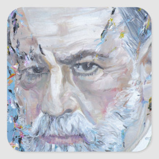 SIGMUND FREUD - oil portrait Square Sticker