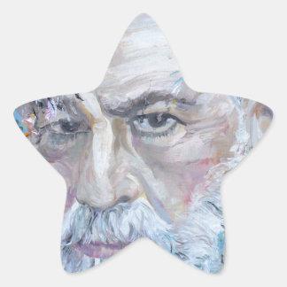 SIGMUND FREUD - oil portrait Star Sticker