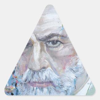 SIGMUND FREUD - oil portrait Triangle Sticker