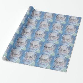 SIGMUND FREUD - oil portrait Wrapping Paper