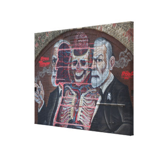 Sigmund Freud Street Art Canvas Print