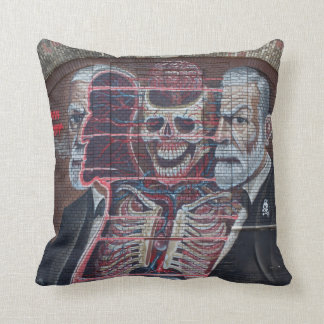 Sigmund Freud Street Art Throw Pillow