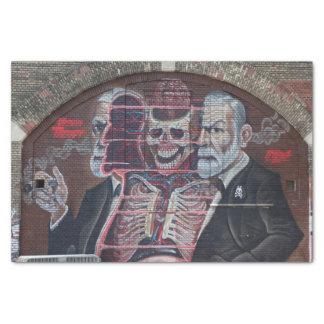 Sigmund Freud Street Art Tissue Paper