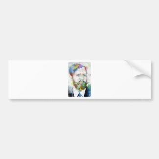 SIGMUND FREUD - watercolor portrait.1 Bumper Sticker