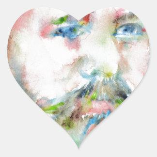 SIGMUND FREUD - watercolor portrait.1 Heart Sticker