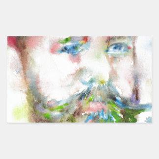 SIGMUND FREUD - watercolor portrait.1 Rectangular Sticker