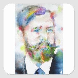 SIGMUND FREUD - watercolor portrait.1 Square Sticker