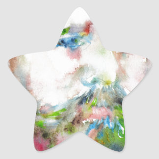 SIGMUND FREUD - watercolor portrait.1 Star Sticker