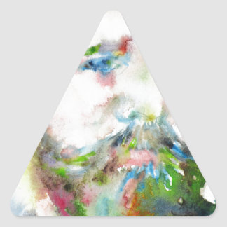 SIGMUND FREUD - watercolor portrait.1 Triangle Sticker