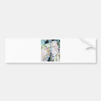 SIGMUND FREUD - watercolor portrait.2 Bumper Sticker