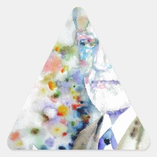 SIGMUND FREUD - watercolor portrait.2 Triangle Sticker