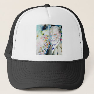 SIGMUND FREUD - watercolor portrait.2 Trucker Hat