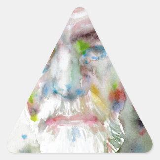sigmund freud - watercolor portrait.3 triangle sticker