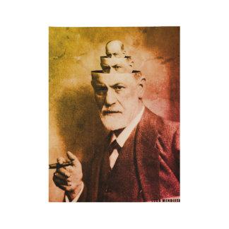 Sigmund Freud Wood Poster