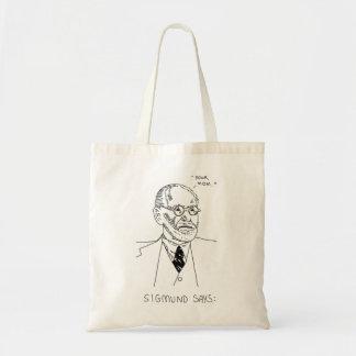 Sigmund Says - Black 2 Tote Bag