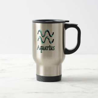 sign.aquarius stainless steel travel mug