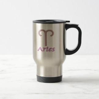 sign.aries. stainless steel travel mug