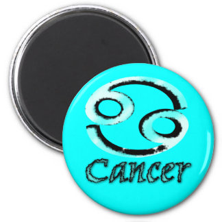 sign.cancer 6 cm round magnet