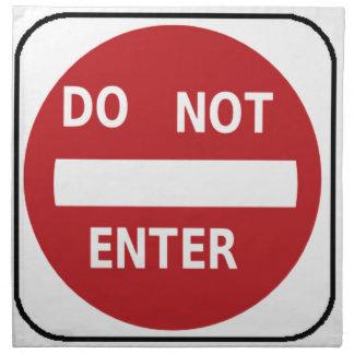 sign Do not enter Napkin