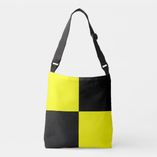 Sign Flag Letter L Lima Nautical Pattern Crossbody Bag