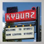 Sign for Kyburz, California
