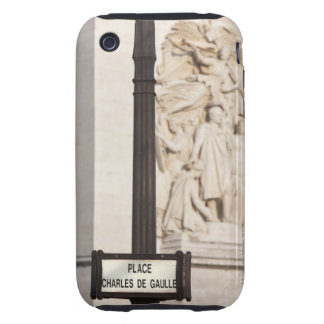 sign for the Place de Charles de Gaulle in front Tough iPhone 3 Case