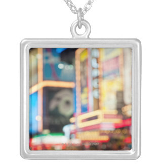 Sign in Times Square Silver Plated Necklace