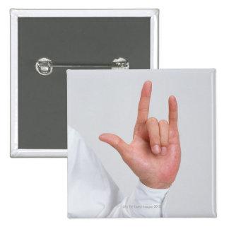 Sign Language 5 15 Cm Square Badge